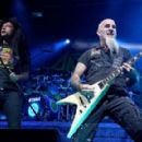 Joey Belladonna & Scott Ian of Anthrax perform during the Las Rageous music festival at the Downtown Las Vegas Events Center on April 21, 2017 in Las Vegas, Nevada - 454 x 290