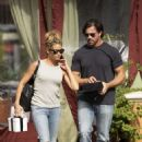 Denise Richards in Jeans – Leaving a restaurant in Calabasas - 454 x 681