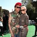 Amber Rose and Wiz Khalifa Attend The 2011 Bet Awards held at The Shrine Auditorium in Los Angeles, California - June 26, 2011 - 380 x 600