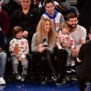 Shakira and Gerard Pique Attend The New York Knicks Vs Philadelphia 76ers Game - 454 x 356