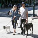 Melissa Benoist With Chris Wood on National Dog Day in Vancouver 08/26/2017 - 454 x 303