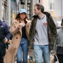 Aubrey Plaza with boyfriend out in New York