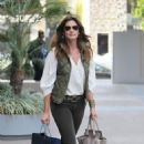 Cindy Crawford headed out in Los Angeles today to get some shopping done.  The celebrity mom and model cruised Robertson Boulevard's shops for a little retail therapy