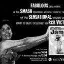 "Paper Ad for ""Jamaica"" 1958 Broadway Cast Lena Horne"