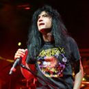 Singer Joey Belladonna of Anthrax performs during the Las Rageous music festival at the Downtown Las Vegas Events Center on April 21, 2017 in Las Vegas, Nevada - 418 x 600