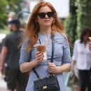 Isla Fisher at a Iced Coffee in Los Angeles May 18, 2017 - 454 x 616