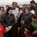Angelina Jolie in Khanke, Iraq (January 25, 2015)