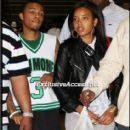 Bow Wow and Angela Simmons at a Basketball Game