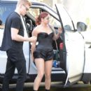 Ariel Winter out for lunch with Levi Meaden in LA