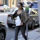 Michelle Rodriguez in Ripped Jeans Out Shopping in Beverly Hills - 454 x 625