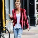 Model Jessica Hart spotted out and about in New York City, New York on October 1st, 2014