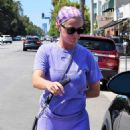 Katy Perry in Purple Outfit – Out in LA