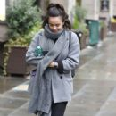 Georgia May Foote in Grey Coat – Out and about in Manchester - 454 x 721