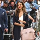 Jessica Alba Arrives at The View in New York - 454 x 750