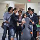 Jill Hennessy and Family at LAX
