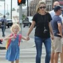Rebecca Gayheart and her daughter Billie Dane spotted out and about in West Hollywood, California on September 8, 2014 - 454 x 577