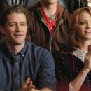 Matthew Morrison as Will Schuester and Jayma Mays as Emma in Glee (2009)