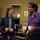 Mick Jagger with Bobby Cannavale on the set of HBO's Vinyl