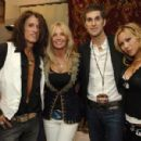 Joe Perry with wife Billie and Perry Farrell and Etty Lau