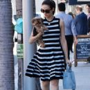 Emmy Rossum With Her Dog – Out in Beverly Hills - 454 x 613
