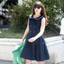 Zooey Deschanel shopping in Brentwood (August 7)