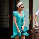 Eva Mendes Leaves Her NYC Hotel