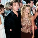 Brad Pitt and Jennifer Aniston At The 51st Annual Primetime Emmy Awards (1999) - 454 x 896