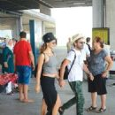 Beren Saat & Kenan Dogulu :  at Bodrum Airport (August 21, 2016)