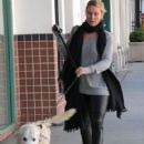 Nicollette Sheridan spotted out with her dog in Beverly Hills, California on January 7, 2016 - 420 x 600