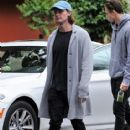 Patrick Schwarzenegger and his mother Maria Shriver are spotted out house hunting for Patrick in Hollywood, California on January 10, 2017 - 415 x 600