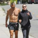 Robin Wright and husband Clement Giraudet – Out in Santa Monica