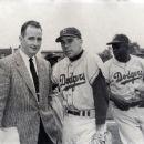 "Jack Quinlan With Harold ""Pee Wee"" Reese & Jackie Robinson"