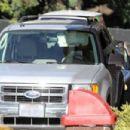 Selena Gomez at McDonalds drive-thru in Encino, California (January 16)