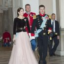 Crown Princess Mary Elizabeth of Denmark and Kronprins Frederik : New Year's Reception at Christiansborg Palace - 2015 (January 7, 2015) - 454 x 519