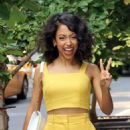 Liza Koshy in Yellow – Out in New York