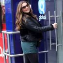 Kelly Brook in Shorts at Heart Radio in London