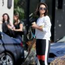 Nina Dobrev with her new rescue puppy Maverick in West Hollywood - 454 x 681