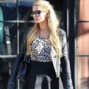Paris Hilton In Mini Skirt Out In Ny