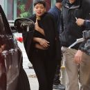 Rihanna leaving the Los Angeles Lakers basketball game at Staples Center Los Angeles,December 25, 2012