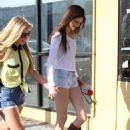 Kendall and Kylie Jenner out shopping and eating with friends in Hollywood, CA (June 16)