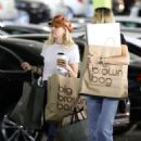 Miley Cyrus – Shopping with her Mom Tish in Studio City - 454 x 681
