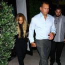 Jennifer Lopez at Osteria Mozza Restaurant in West Hollywood