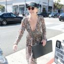 Sharon Stone in Sheer Dress out in Beverly Hills - 454 x 624