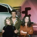 "Jane Badler as Diana, Marc Singer as Mike Donovan, Faye Grant as Dr. Julie Parrish in the original ""V"" series"