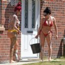 Jemma Lucy and Laura Alicia Summers in Bikini – Car Washing in Manchester - 454 x 403