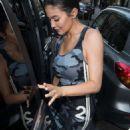 Kylie Jenner in Mini Dress – Leaving her hotel in Paris