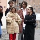 Nathalie Kelley in Fur Coat – Out and about in Rome - 454 x 636