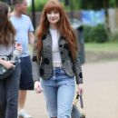 Nicola Roberts – Arrives at the Peter Pan launch in London - 454 x 706