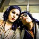 Kat Von D and Nikki Sixx