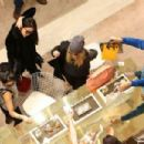 "Selena Gomez,Vanessa Hudgens,and Ashley Benson Shopping at ""Le Printemps"" in Paris, France - February 16, 2013"